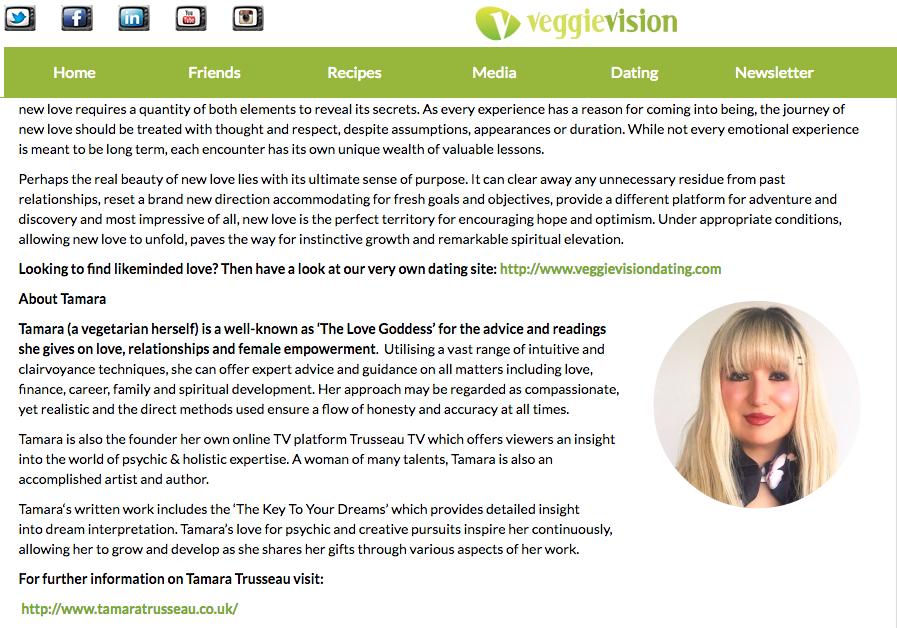 Tamara Trusseau — Veggie Vision article